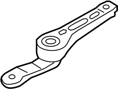 2006 Volkswagen GTI Engine Support Rod (Rear). TRANS