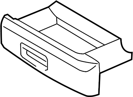 2009 Volkswagen Jetta GLI Seat Storage Drawer. COMPONENTS