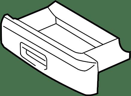 2011 Volkswagen GTI Seat Storage Drawer. ComponentS
