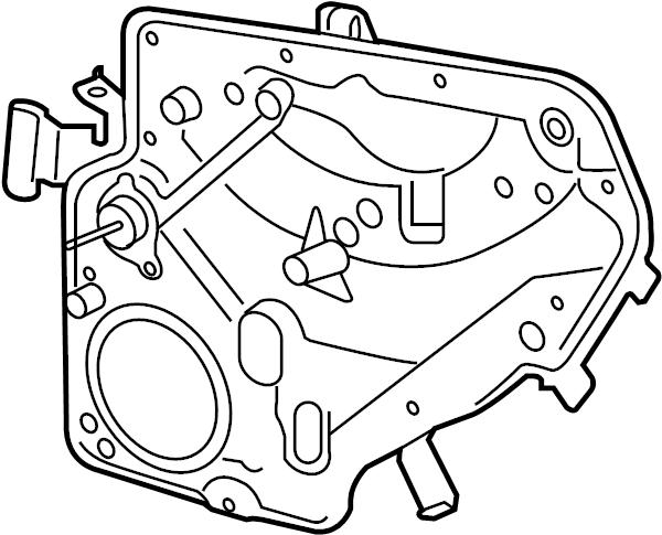 2013 Volkswagen GTI Regulator. Power Operated. Module