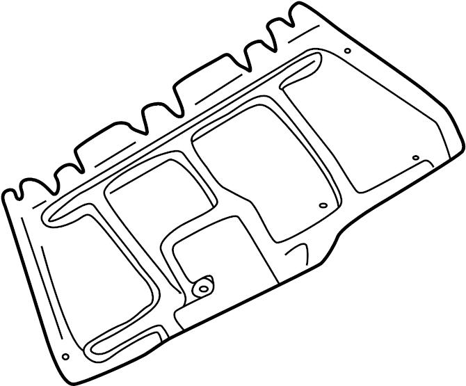 2001 Volkswagen Beetle Radiator Support Splash Shield