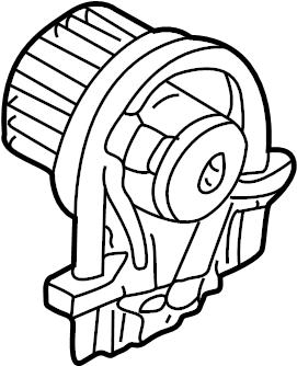 1998 Volkswagen Beetle Blower. Motor. Fan. HVAC