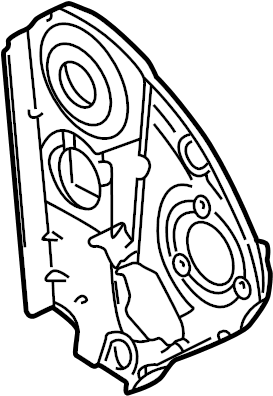 2003 Volkswagen Beetle Convertible Engine Timing Cover