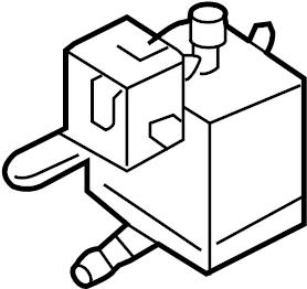 2004 Volkswagen Jetta Wagon Changeover valve. Evaporative