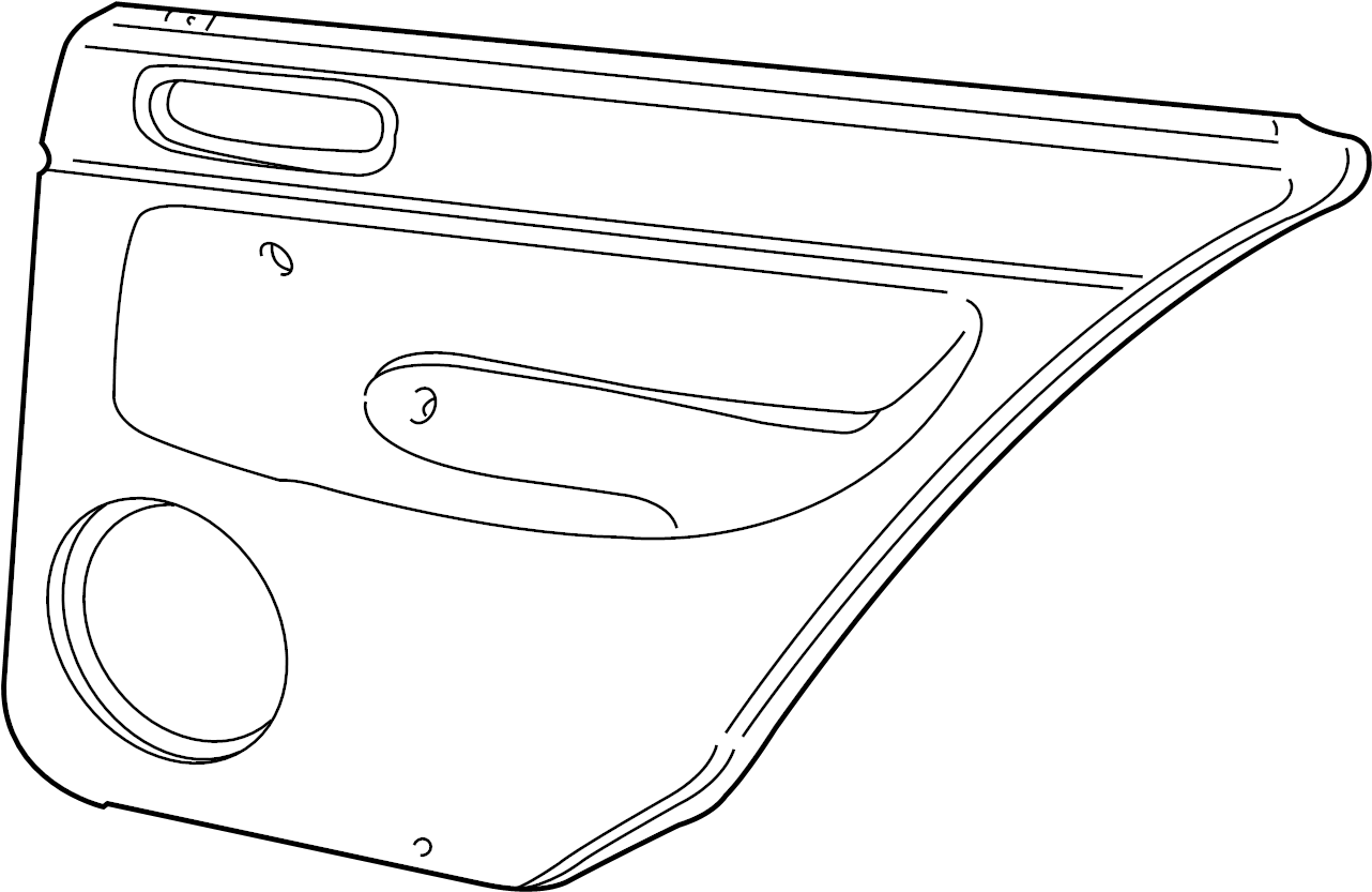 2004 Volkswagen Golf Door Interior Trim Panel (Rear). Gray