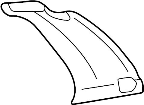 2004 Volkswagen Golf Body C-Pillar (Front, Rear). Door