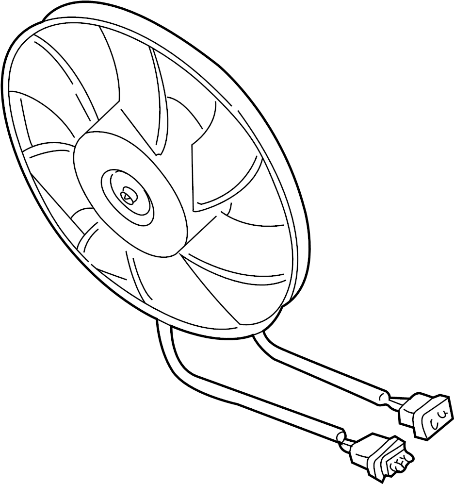 1999 Volkswagen Golf Engine Cooling Fan Motor. LITER, Watt