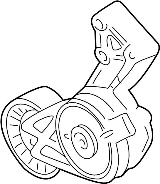 2002 Volkswagen Jetta Belt tensioner. Drive Belt Tensioner