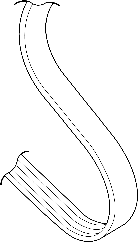 2001 Volkswagen Beetle Alternator belt. RIBBEDBELT