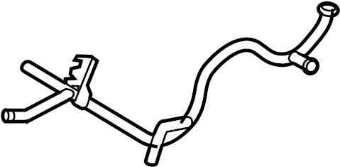 2000 Volkswagen Beetle Engine Coolant Crossover Pipe