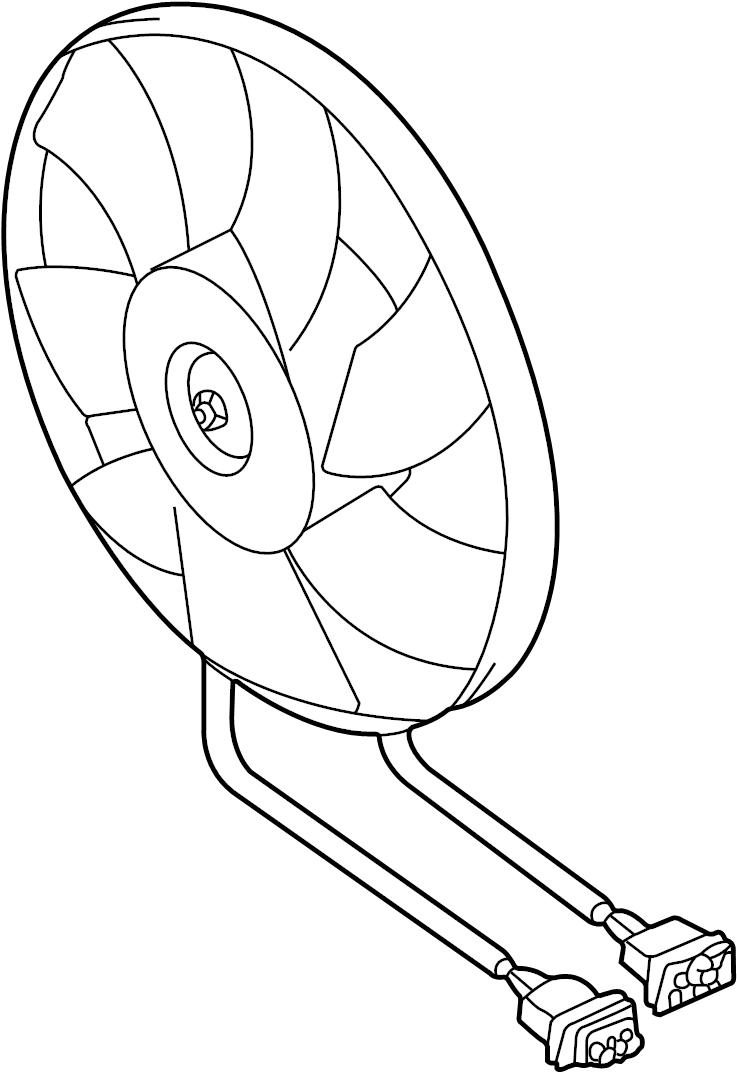 2000 Volkswagen Beetle Engine Cooling Fan Motor. WJetta