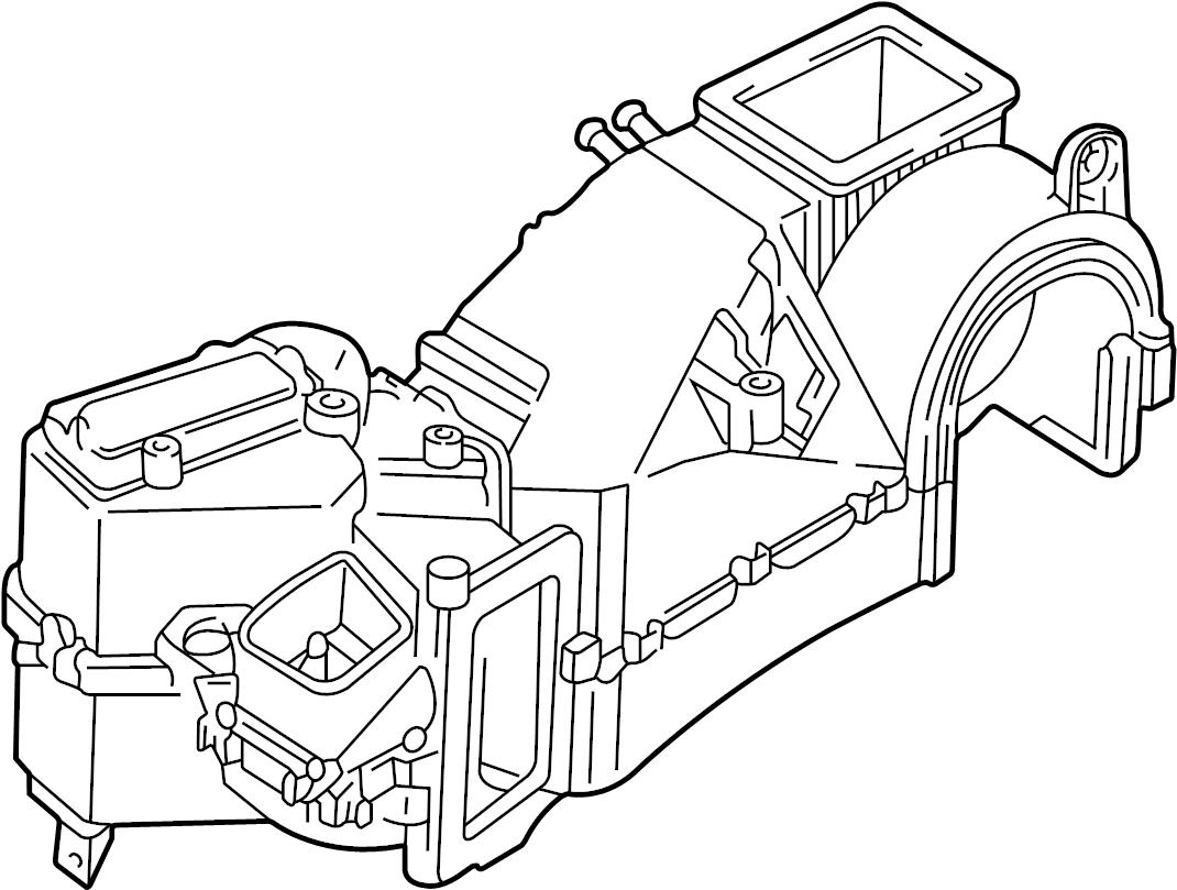 Volkswagen Cabrio Air Conditioning A C Evaporator