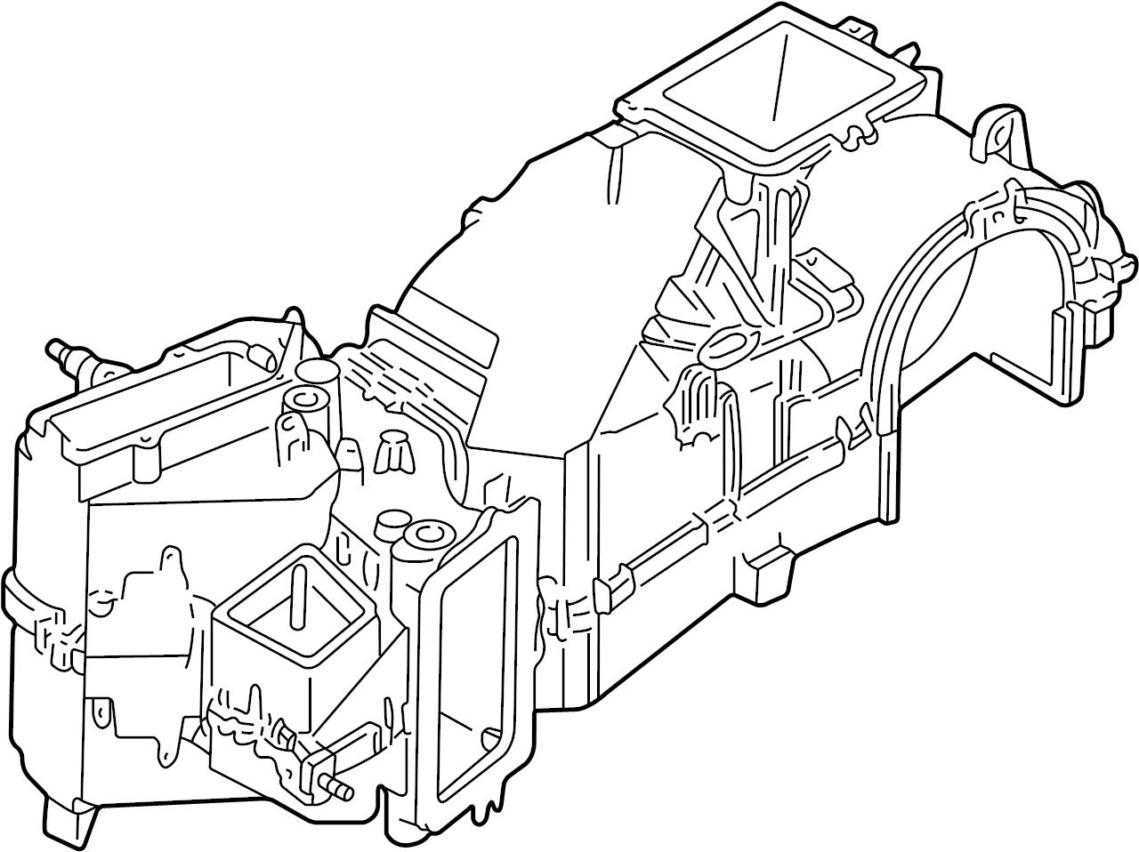 1999 Volkswagen Cabrio Evaporator. Evaporator core