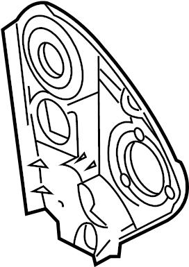 2000 Volkswagen Jetta Engine Timing Cover. Inner