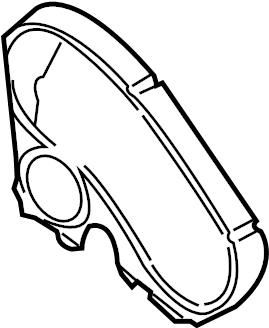 1999 Volkswagen Jetta Engine Timing Cover (Front, Upper