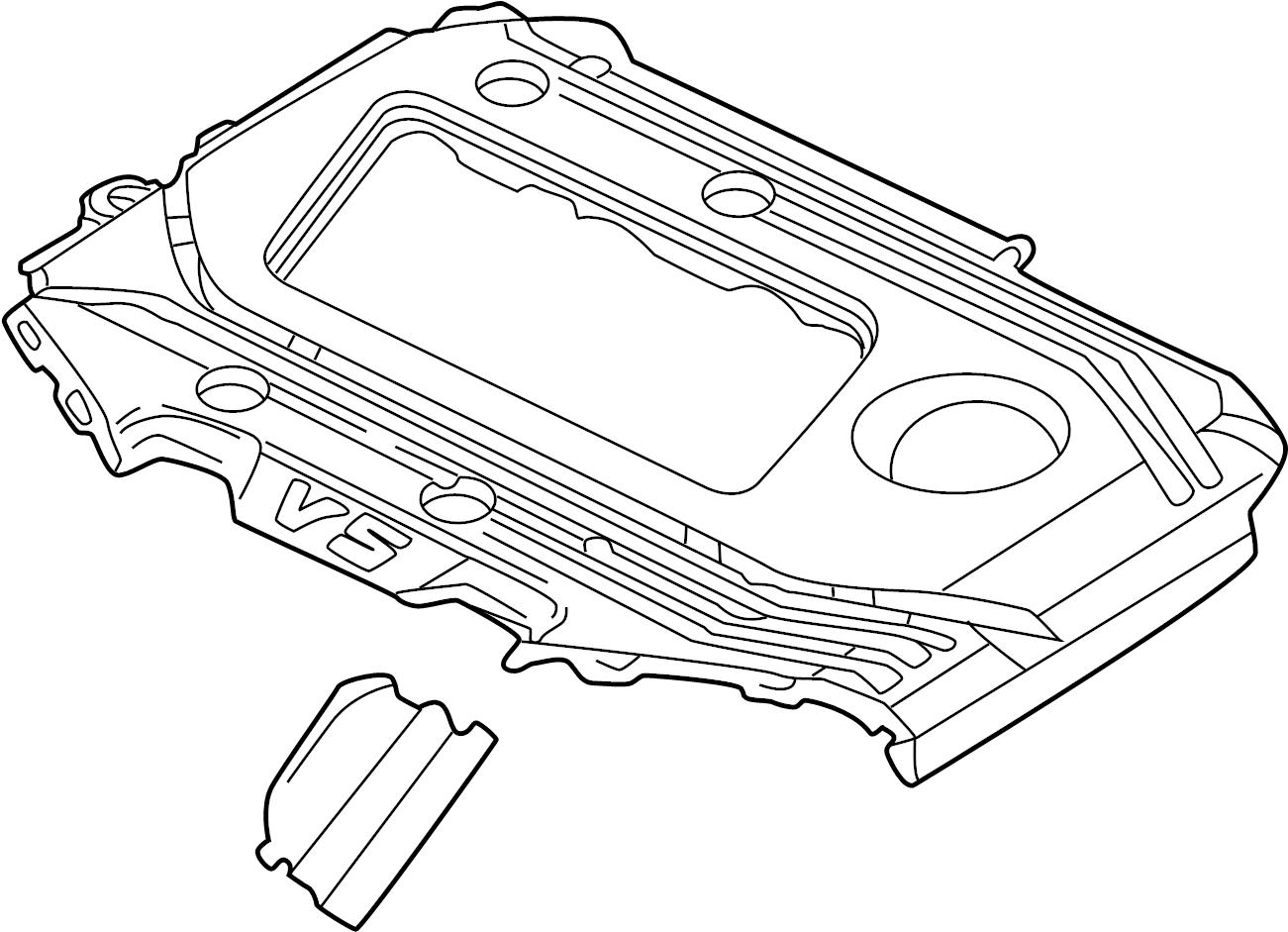 Volkswagen Jetta Engine Cover 02 1 2 8 Liter