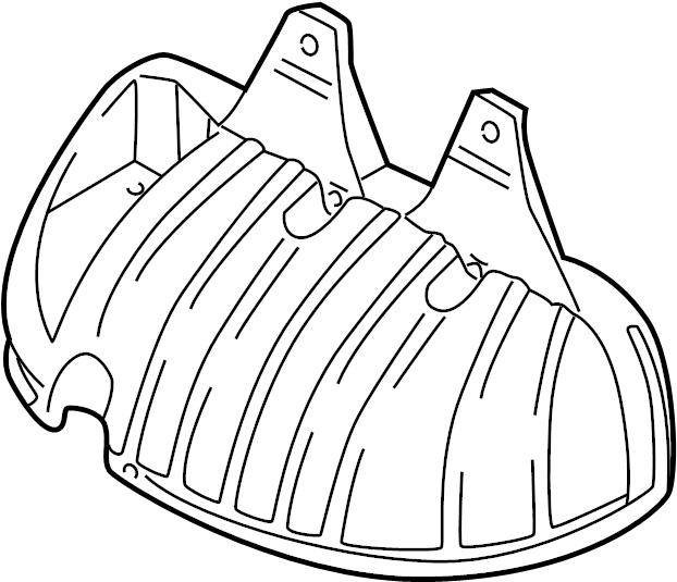 2001 Volkswagen Beetle Exhaust Manifold Heat Shield. Heat