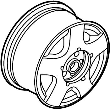 2002 Volkswagen Jetta Wheel. SEDAN, May, Alloy