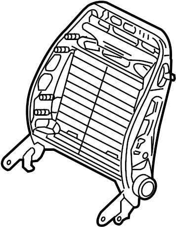 2000 Volkswagen Passat Wagon Seat. Frame. (Upper