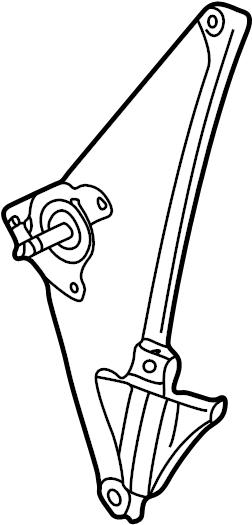 2001 Volkswagen Golf Manual regulator. WINDOW REGULATOR