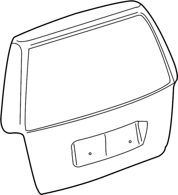 2004 Volkswagen Jetta Wagon Liftgate. Rear. Body