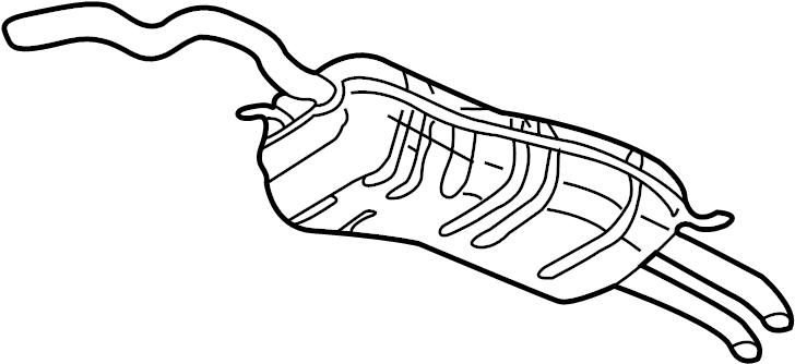 2001 Volkswagen Jetta Wagon Exhaust Muffler (Rear). Jetta