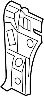 2005 Volkswagen Jetta Body A-Pillar Reinforcement (Lower