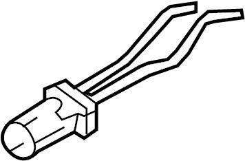 2008 Volkswagen Rabbit Headlight Socket (Lower). Sedan