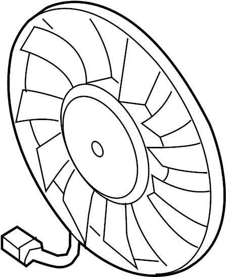 2010 Volkswagen GTI Engine Cooling Fan Motor. LITER