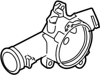 2007 Volkswagen Rabbit Engine Coolant Thermostat Housing