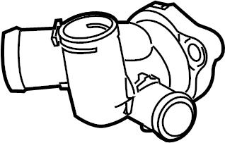 2012 Volkswagen Jetta Engine Coolant Water Outlet Housing