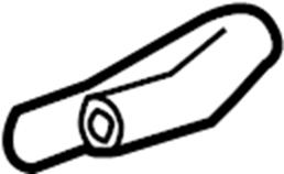 2013 Volkswagen SportWagen Hose. Pipe. LITER, TRANS, AUTO