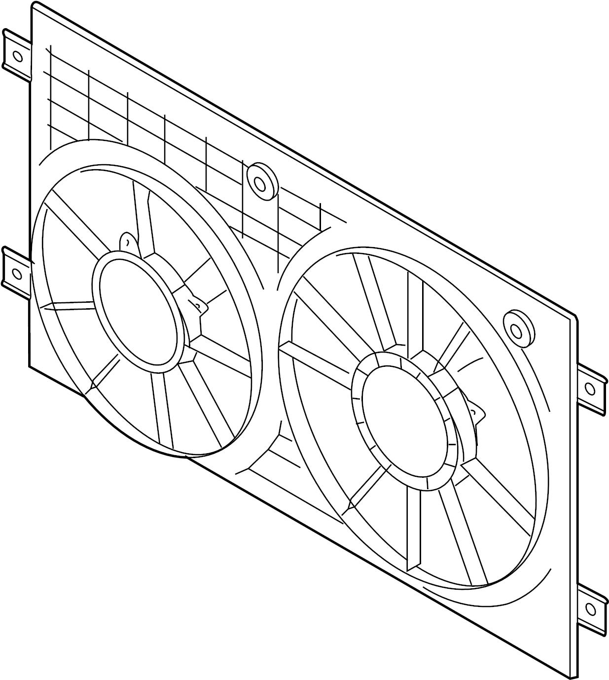 2012 Volkswagen Passat Engine Cooling Fan Shroud (Front