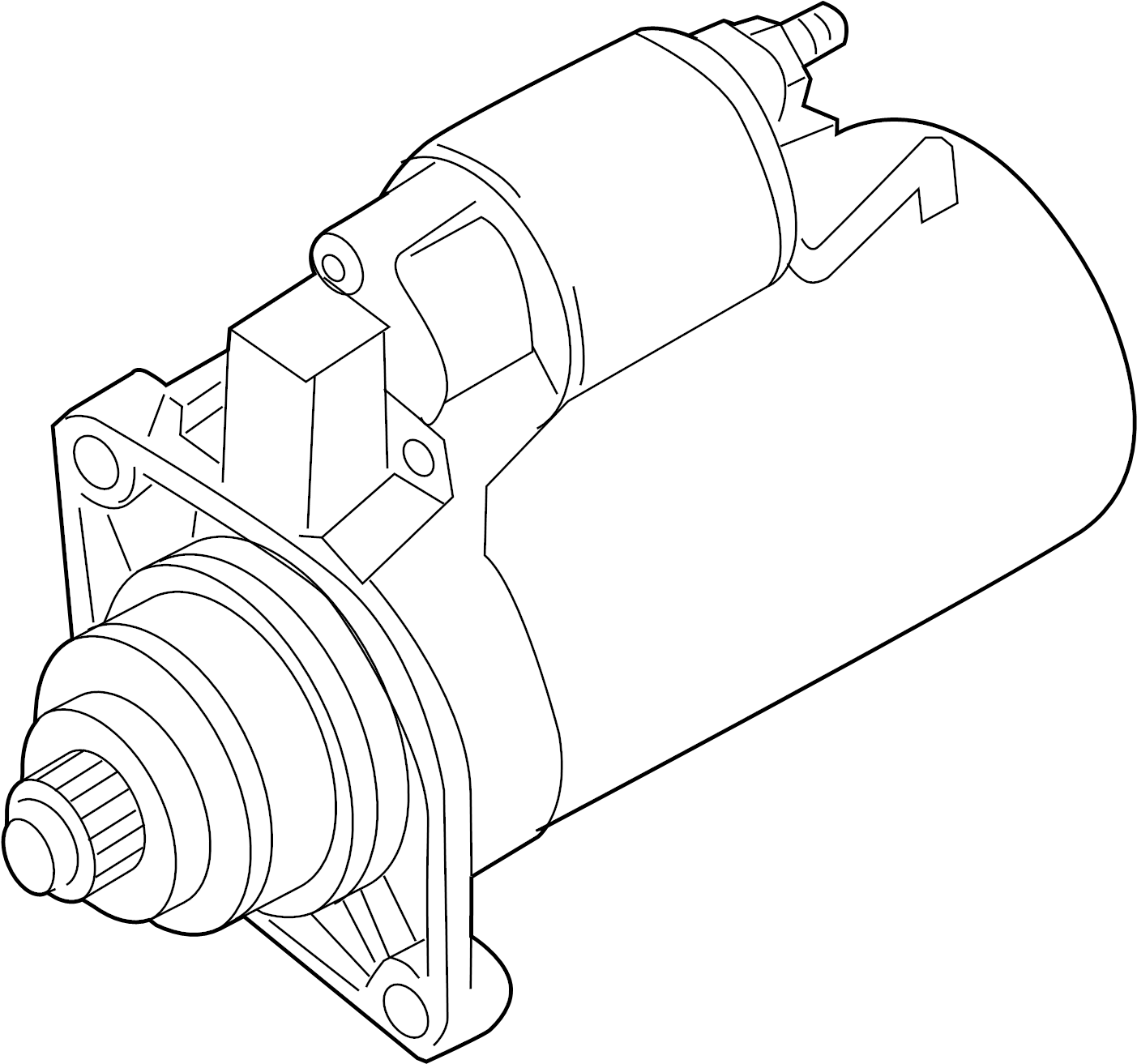 2014 Volkswagen Jetta Starter Motor. 2.0 Kw. LITER, Trans