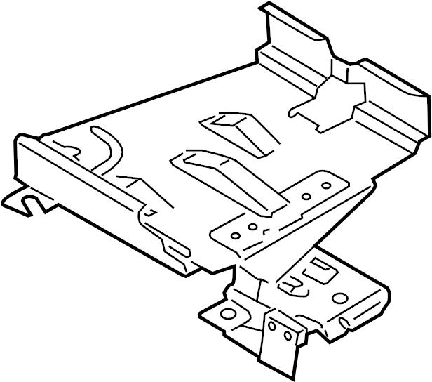 2009 Volkswagen Jetta Wagon Engine Control Module Bracket