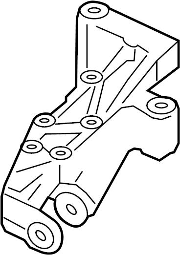 2007 Volkswagen GTI Bracket. Mount. Support. (Upper