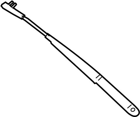 2006 Volkswagen Jetta Windshield Wiper Arm. VIN, Replace