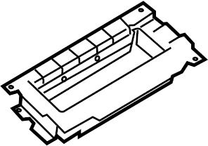 2007 Volkswagen Rabbit Instrument Panel Air Bag Bracket