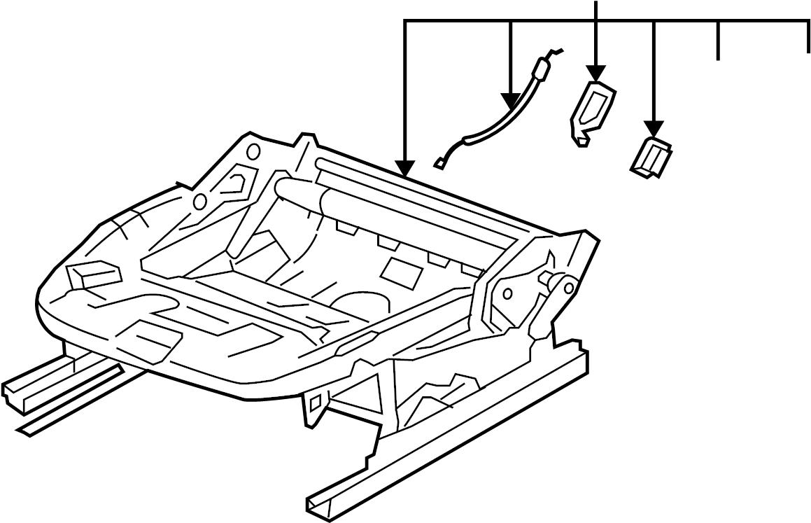 2009 Volkswagen Jetta Seat Frame (Lower). COMPONENTS