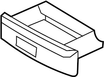 2006 Volkswagen Jetta GLI Seat Storage Drawer. ComponentS