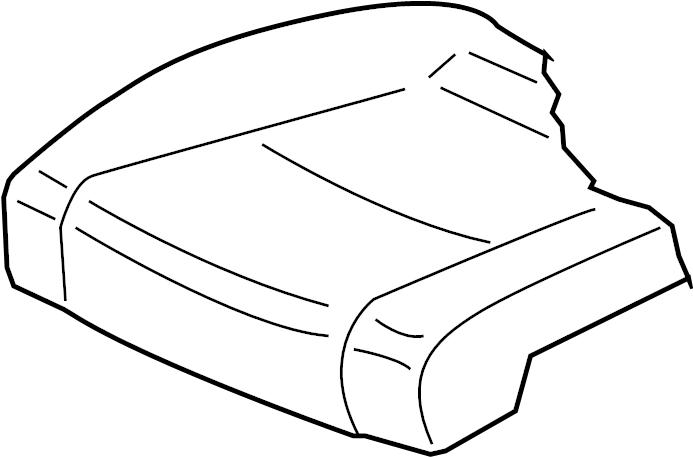 2009 Volkswagen Jetta GLI Seat Cover. ComponentS, CUSHION