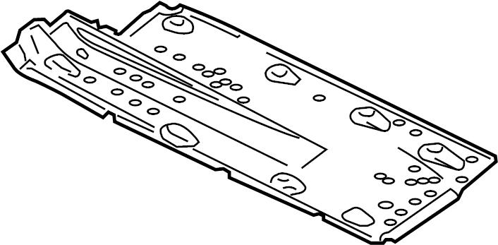 2008 Volkswagen Jetta Floor Pan Heat Shield. Left; center