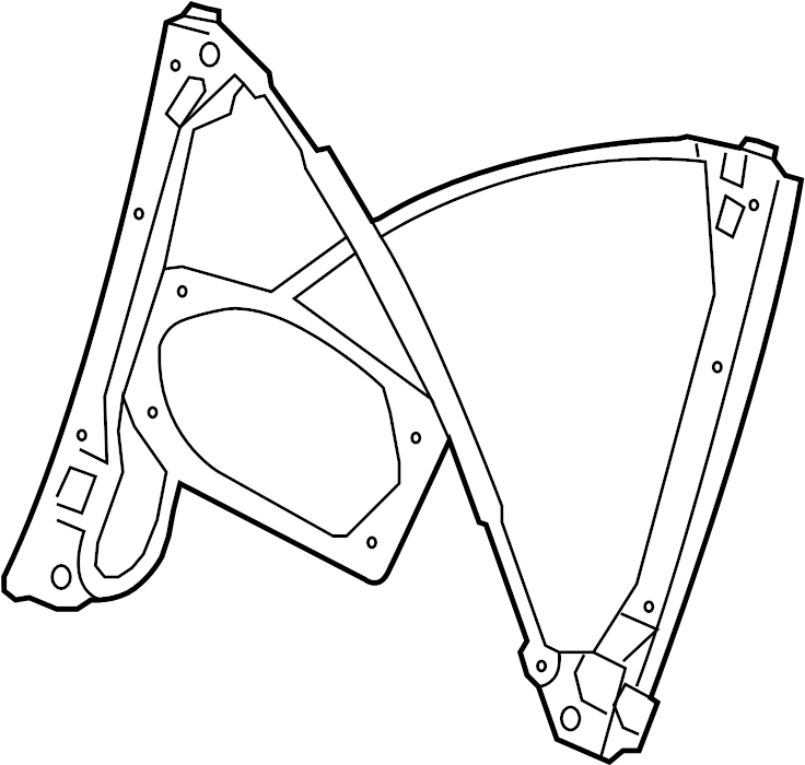 2009 Volkswagen Jetta Window Regulator (Lower). Wagon