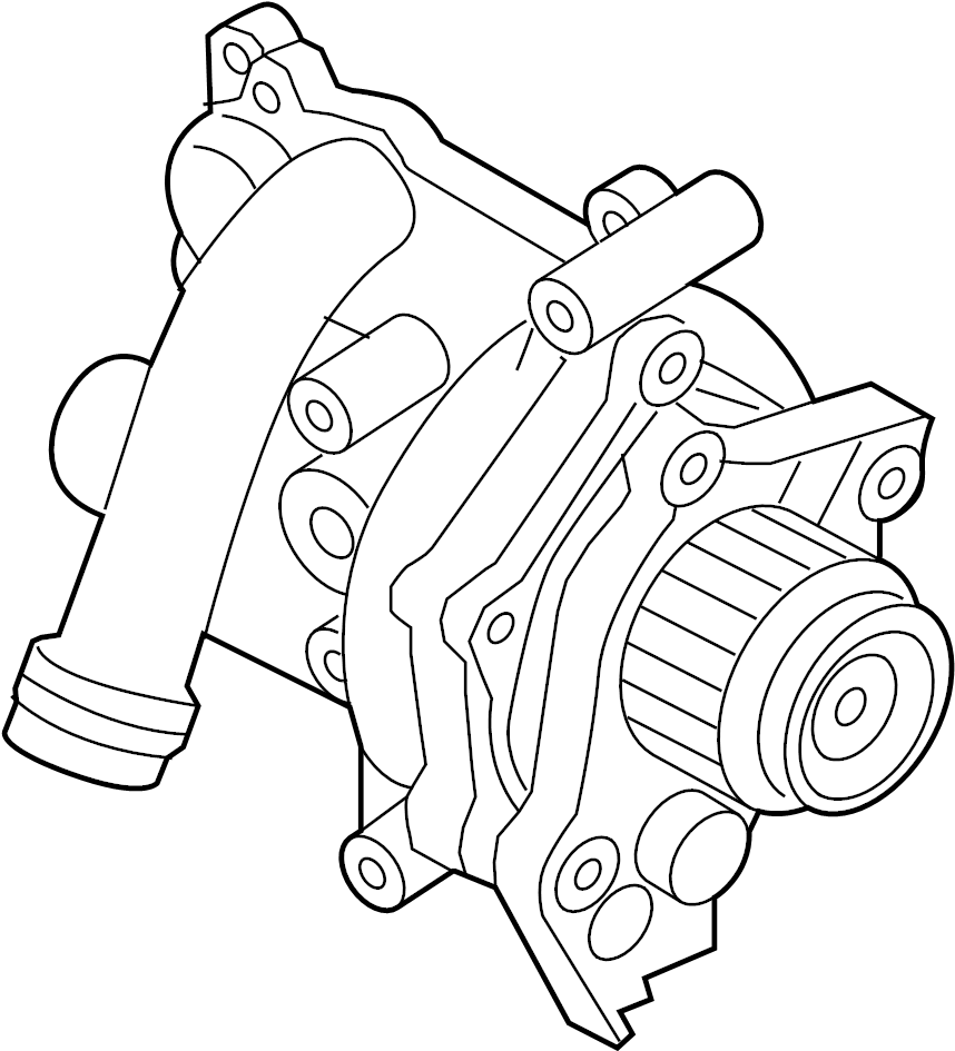 2009 Volkswagen Tiguan Engine Water Pump Assembly. 2.0