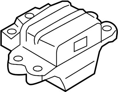 2010 Volkswagen GTI Mount. Transmission. (Front