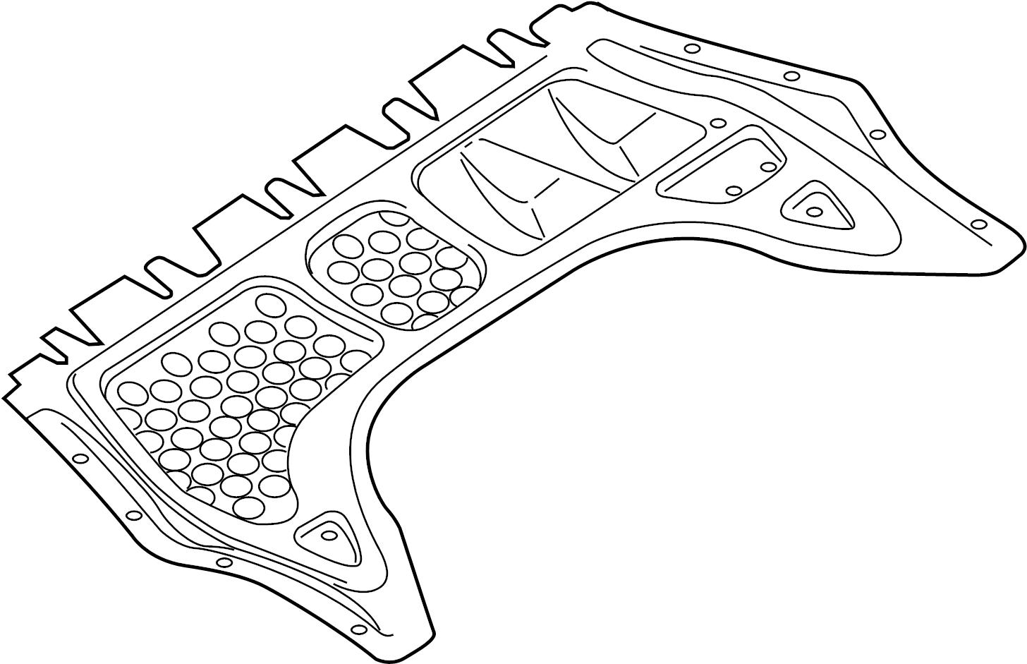 Volkswagen Golf R Radiator Support Splash Shield