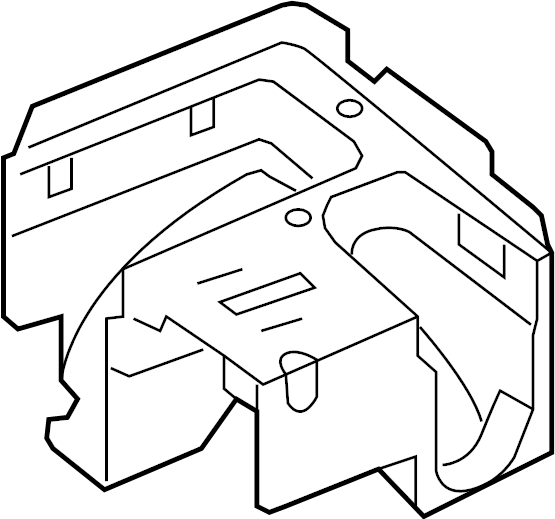 2010 Volkswagen GTI Fuse and Relay Center Bracket. Fuse