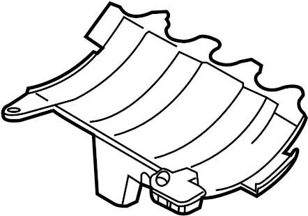 2014 Volkswagen Beetle Convertible Baffle plate. Engine