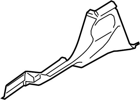 2013 Volkswagen GTI Instrument Panel Knee Bolster (Lower