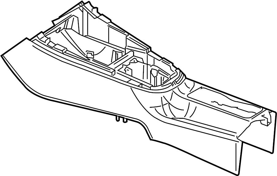 2014 Volkswagen SportWagen Center Console (Front, Rear